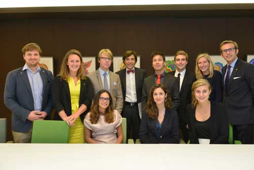 PM Elio Di Rupo meets Belgian Fulbrighters in New York