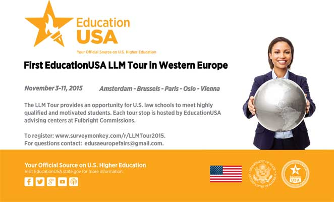 November 5, 2015: EducationUSA LLM Fair in Brussels