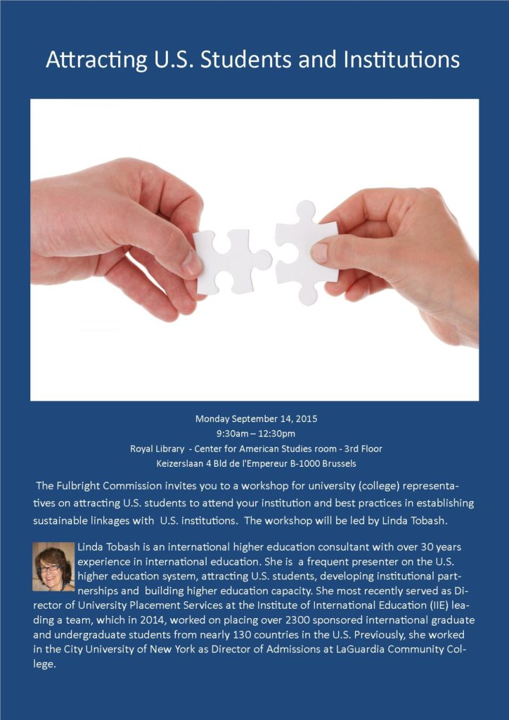 September 14, 2015: Workshop on Attracting U.S. Students and Institutions